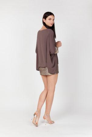vestido corto lentejuelas lateral