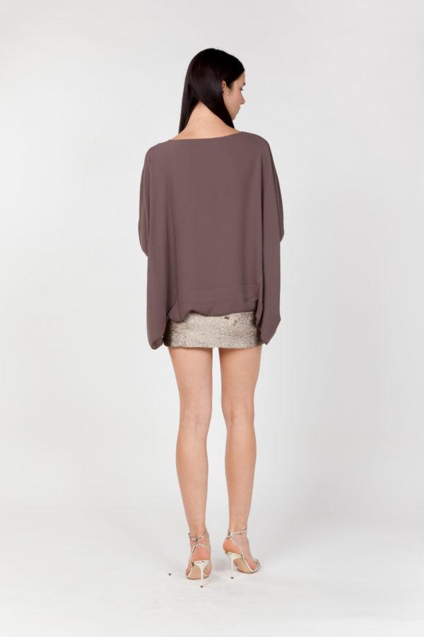 vestido corto lentejuelas espalda
