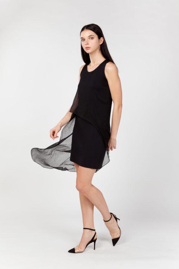 vestido corto de fiesta lateral