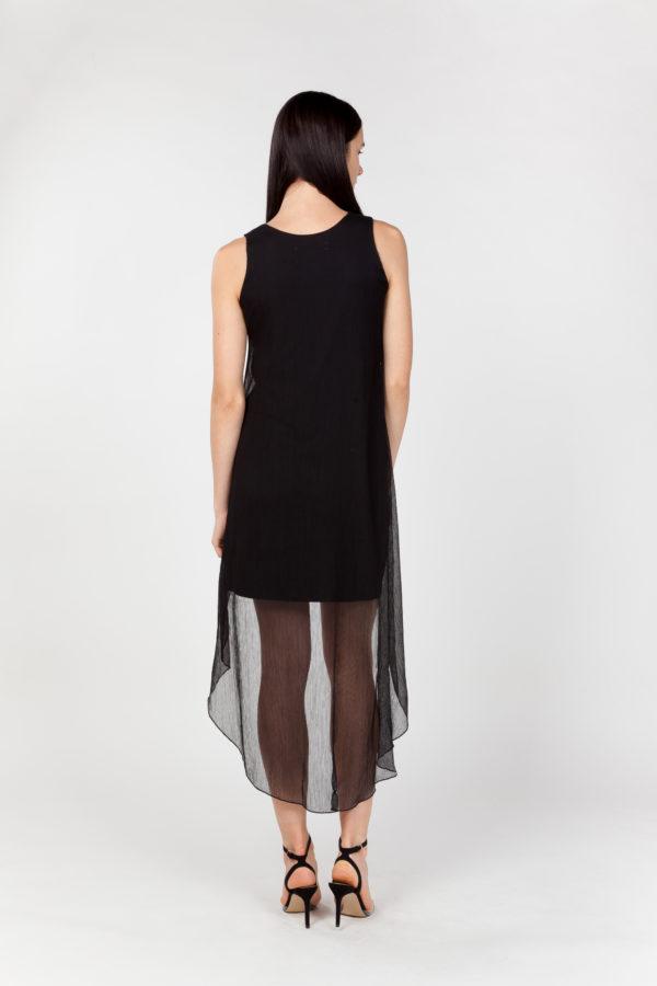 vestido corto de fiesta espalda