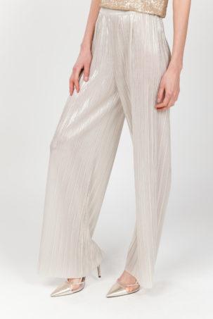pantalon plisado oro lateral