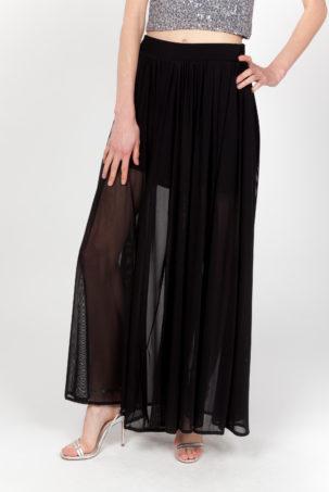 pantalon falda negra frontal