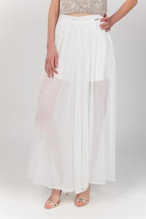 pantalon falda blanca frontal