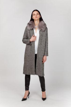 abrigo largo con pelo frontal 2