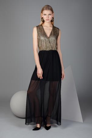 vestido de fiesta rejilla