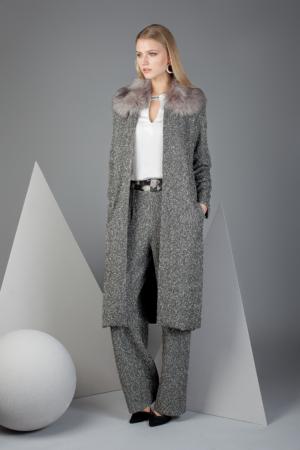 abrigo largo con pelo