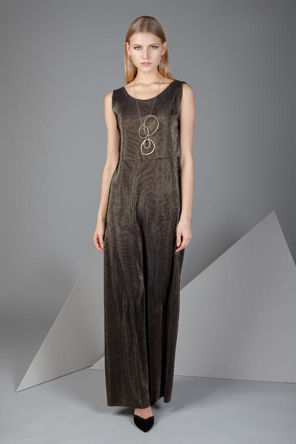 vestido largo laminado