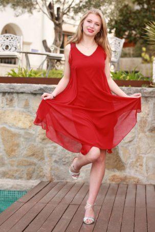 vestido ariana rojo 2