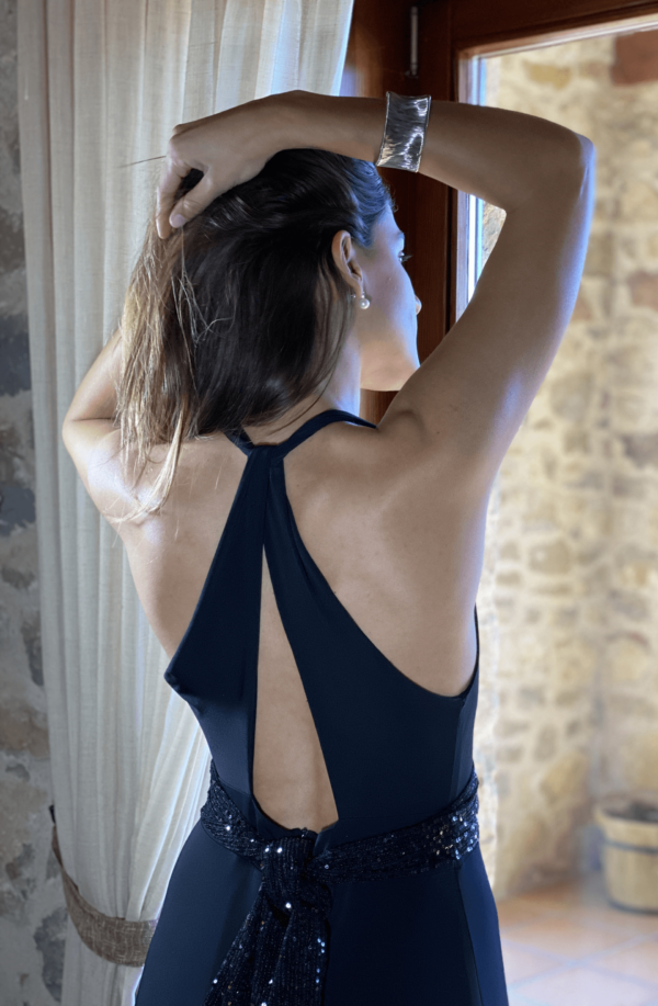 vestido hepburn espalda negra