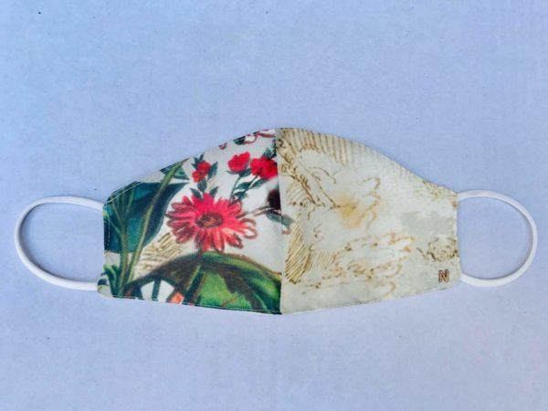 mascarilla estampado floral